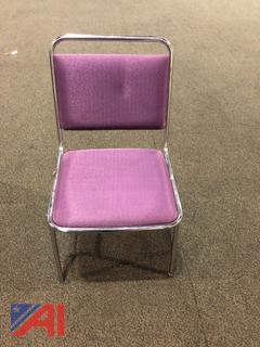 Purple Square Back Dining Chairs